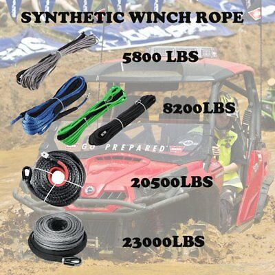 NEW Synthetic Winch Line Cable Rope Recovery 5800LBS - 23000LBS For ATV UTV