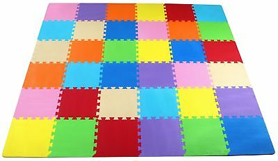 BalanceFrom Kid's Puzzle Exercise Play Mat with 36 EVA Foam Interlocking Tiles,