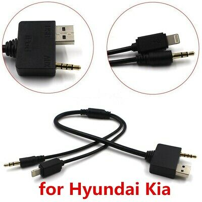 Kia 8-Pin Lightning AUX-In Input Interface Cable Audio For iPod iPhone 5 6 6Plus