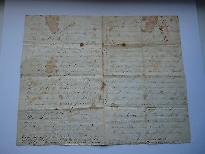 AMAZING CONTENT American US Civil War letter 1861 South - Abraham Lincoln