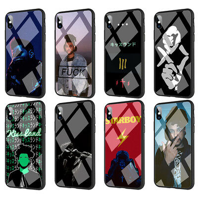 The Weeknd Tempered Glass TPU Case for iPhone XS Max X 8 7 6 6S Plus 5 5S SE