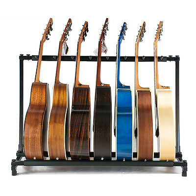 7 Way Multi Guitar Stand Foldable Acoustic Electric Electric Bass Guitar Rack