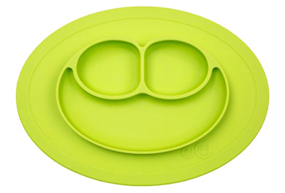Mini Mat Silicone placemat plate Lime One Size with Suctions Baby Feeding ezpz