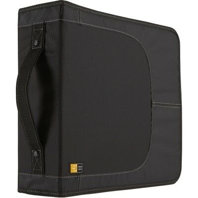 Case Logic CDW-208 Case Logic CD Wallet - Book Fold - Nylon - Black - 208 CD/DVD