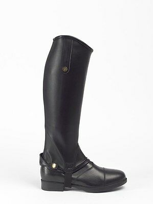 Brogini TREVISO GAITERS Chaps Leather Look Easy Care Adult Black/Brown S-XL