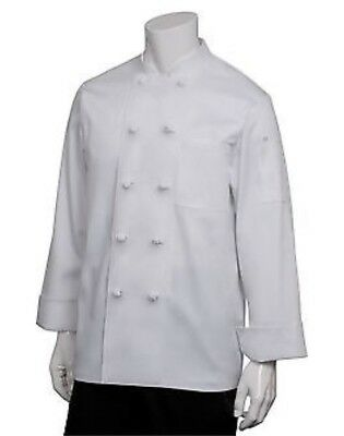 New Chef Works sz L Men's White Bordeaux Chef Coat (PKWC) NWT