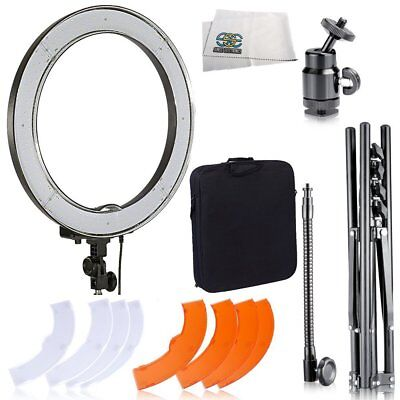 Ultimaxx Camera Photo & Video 18 Inch 240 LED Dimmable 5500K Ring Light with + +