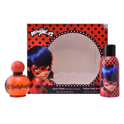 Parfüm-Sets Cartoon women MIRACULOUS LADYBUG SET 2 pz