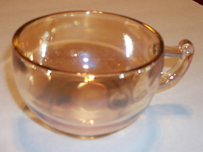 Beautiful Golden Glass Iredescent Coffee Tea Cup Depression Antique Carnival EUC