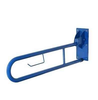 5'bn     Disability Assisted Needs Swing Arm Drop Down Grab Rail Blue & Bracket