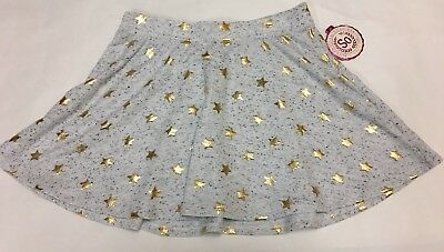 NWT Girls Yourh SO Skirt Size XLarge (14) Knit Short Skirt with Gold Stars