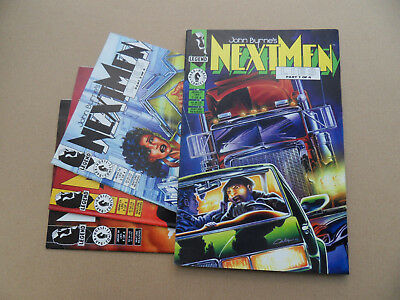 John Byrne's Next Men  27 - 30 . Lies Part 1 - 4 . Dark Horse 1994 . VF - minus