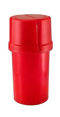 MedTainer Storage Container w/ Built-In Grinder - Red