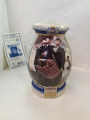 "Miller Brewing Stein ""Bottom of the Sixth"" by Norman Rockwell with COA"