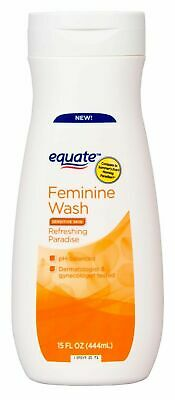 New 5 Pack Equate Feminine Wash Refreshing Paradise, 15 Oz