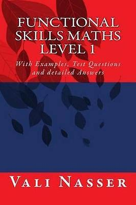 NEW Functional Skills Maths Level 1 by Vali Nasser BOOK (Paperback) Free P&H