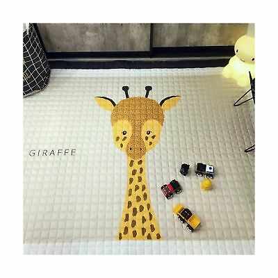 Thick Cotton Baby Crawling Mat Cute Giraffe Play Carpet Children Bedroom Deco...