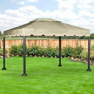 Garden Winds 10 X 12 Garden House Gazebo Replacement Canopy - RipLock 350 & GARDEN WINDS 10 x 12 Two Tier Finial Gazebo Replacement Canopy ...