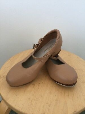 Size 5 GIRLS Small Ladies TAP SHOES Tan 22cm
