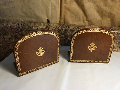 Pair of Vintage Leather Bookends