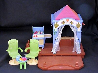 Fisher Price Loving Family Dollhouse Lite Up Music Cabana Tent Patio Chair Grill