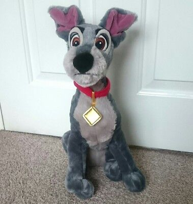 """Disney Store Exclusive Large Lady & the Tramp Soft plush Tramp Dog Soft Toy 16"""""""