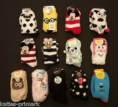 Primark Ladies Girls Cosy Socks Disney / Licensed Uk 4-8 Supersoft