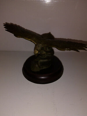 Vintage Brass Small Eagle on Stand