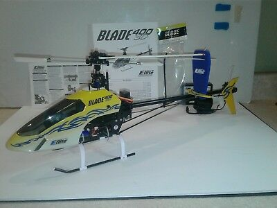 E-flite Blade 400 3D Rc Helicopter. For parts or repair. Brushless spectrum