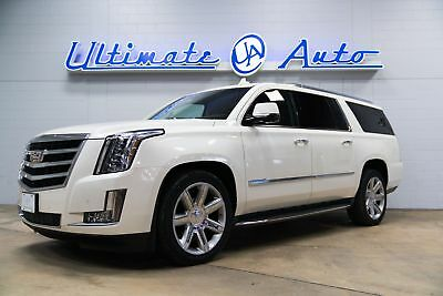 """2015 Cadillac Escalade Luxury Sport Utility 4-Door Reclining Rear Seats w/Leg Extensions. 32"""" HD LCD Screen. Electric Divider."""