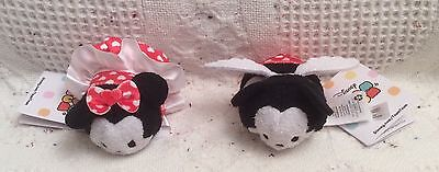 Mickey & Minnie Mouse Valentine Mini Tsum Tsums NWT Authentic U.S. Disney Store