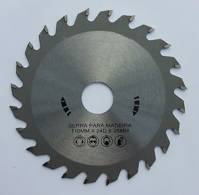 "TCT Wood circular Saw Blade 24T 110mm (4 1/4"")  x  20mm or 5/8"" arbor"
