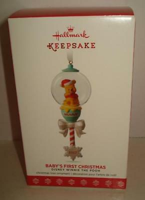 2017 Hallmark Baby's First 1st Christmas Ornament-Disney's Winnie the Pooh NIB