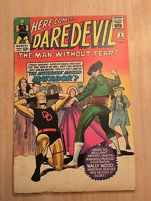 Daredevil  #5, Early Marvel Key, Solid Mid-Grade Copy With Nice Eye Appeal