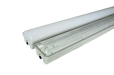 2-PACK 4' LED Vapor Tight IP65 Light Fixture 30W 75-100W Equivalent 3600lm