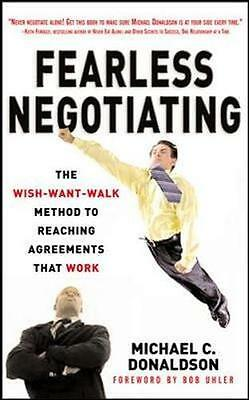 NEW Fearless Negotiating by Michael C. Donaldson BOOK (Paperback) Free P&H