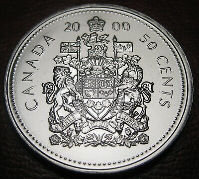 RCM - 2000-w - 50-cent - Coat of Arms - Proof Like - Uncirculated