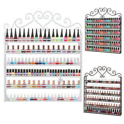 6 Tiers Metal Wall Mounted Nail Polish Rack Organizer Display Holder Shelf UK