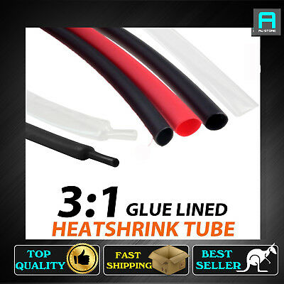 Dia=6.4mm 19.1mm Heat Shrink 3:1 Adhesive Glue Line Waterproof Tubing Heatshrink