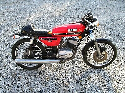Yamaha Rx125 Retro Cafe Racer Road Bike Classic 125 2 Stroke Could Easy Restore