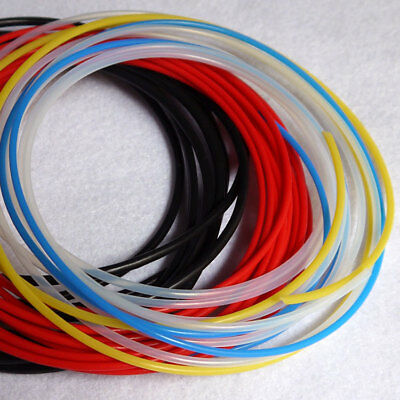 0.3mm ~ 3.4mm PTFE Teflon Tubing Pipe Clear Black Red Blue Yellow AWG8~30 Lot YS