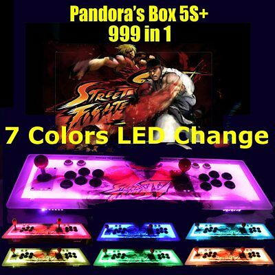 ☆ LED Real Pandora's Box 5S+ Multiplayer Home Arcade Console 999 in1 Games US