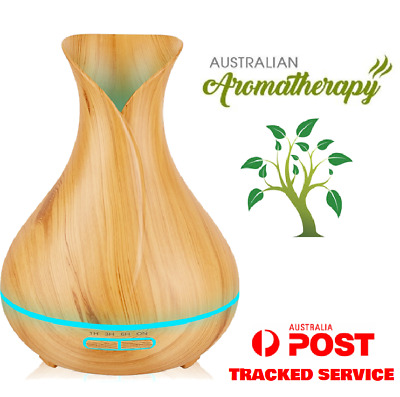 Diffuser Aroma Essential Oil. Wood Grain. LED. Humidifier Purifier. 100% GENUINE
