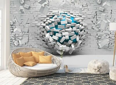 Wall Mural Photo Wallpaper Picture EASY-INSTALL Fleece 3D Modern Abstract Brick
