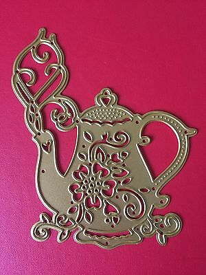 NEW• TEAPOT COFFEE POT DIE For Cuttlebug Or Sizzix