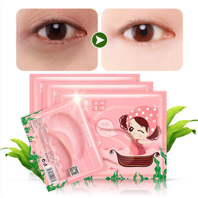 Women'S Collagen Seaweed Eye Patch Anti-Puffiness Remove Dark Circle Skin Care