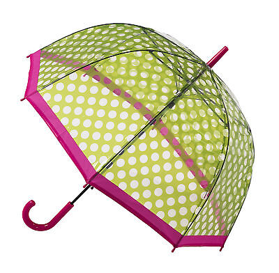 Soake Clear Dome Umbrella - Green Polka Dot