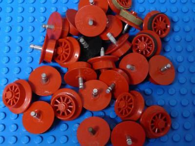 LEGO Train Wheel Spoked for Motor Assorted Red Black x26PC