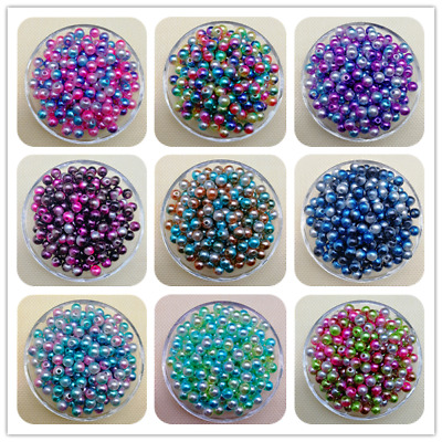 NEW 4 / 6 / 8 / 10MM Colorful Acrylic Round Pearl Spacer Loose Beads Jewelry JND