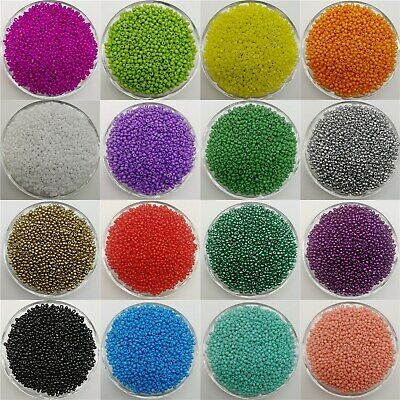 2 / 3 / 4mm Czech Glass Seed Spacer beads Jewelry Making DIY 21 Colors